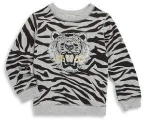 Kenzo Toddler's, Little Boy's & Boy's Zebra Sweatshirt