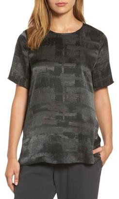 Women's Eileen Fisher Print Silk Top $268 thestylecure.com