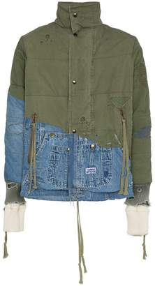 Greg Lauren padded denim cotton jacket