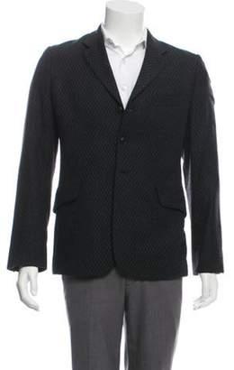Ann Demeulemeester Fleece Wool Intarsia Blazer black Fleece Wool Intarsia Blazer