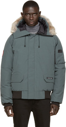 Canada Goose Green Down & Fur Chilliwack Bomber $645 thestylecure.com