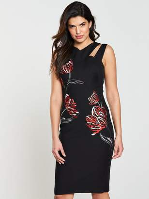 Karen Millen Placed Tulip Embroidered Dress
