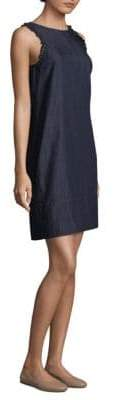 Max Mara Adress Sleeveless Ruffle Denim Dress