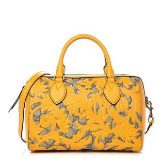 Gucci Boston Top Handle GG Supreme Arabesque Small Yellow
