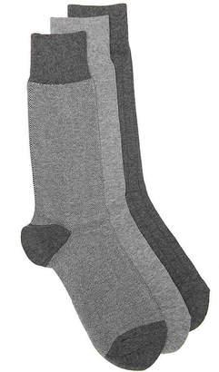 Cole Haan Nailhead Ribbed Crew Socks - 3 Pack - Men's