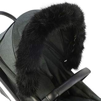 Joie For-Your-Little-One Fur Hood Trim Pram Compatible on Joie, Black