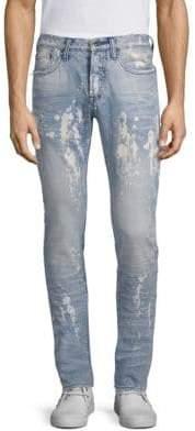 PRPS Le Sabre Bleach Splatter Slim-Fit Jeans