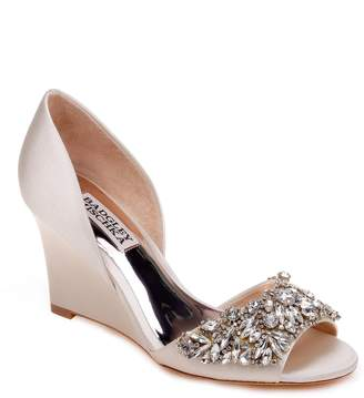 Badgley Mischka Hardy Embellished Wedge