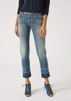Emporio Armani J36 Straight Cut Slim Fit Stonewashed Jeans
