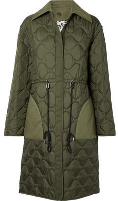 Altuzarra Creedence Reversible Cotton Twill-trimmed Quilted Shell Coat - Army green
