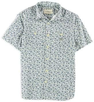 Ralph Lauren Mens Floral Slub Button Up Shirt S