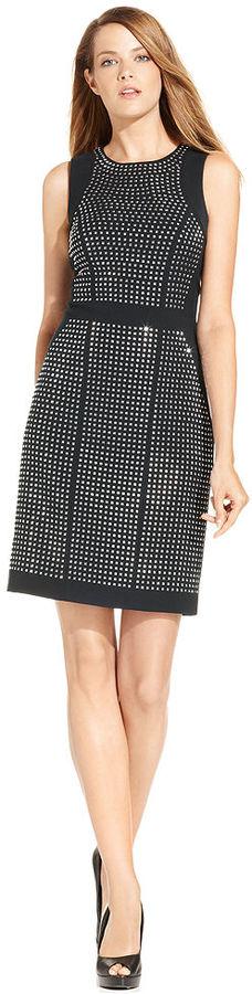 MICHAEL Michael Kors Sleeveless Studded Sheath Dress