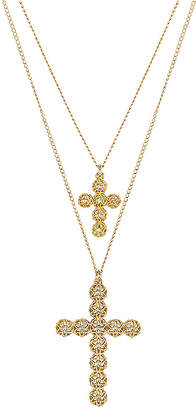 Paradigm Double Cross Necklace