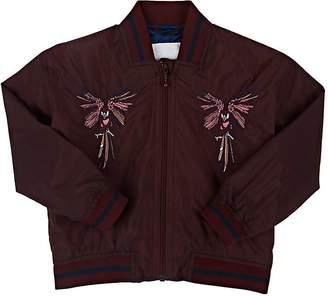 Molo Kids Kids' Hazey Parrot-Embroidered Biker Jacket