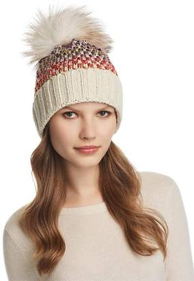 Kyi Kyi Knit Multi-Color Pom-Pom Beanie