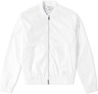 Thom Browne Back Stripe Ripstop Bomber Jacket