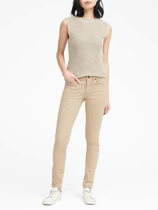 Banana Republic Skinny Stretch Cotton-Blend Sateen Jean