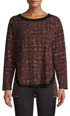 Jones New York Hi-Lo Tweed Sweater