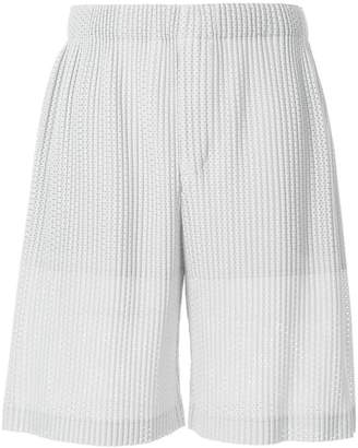Issey Miyake Homme Plissé outer mesh shorts