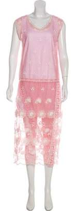 Burberry Crew Neck Midi Dress w/ Tags Pink Crew Neck Midi Dress w/ Tags