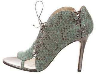 Camilla Skovgaard Python Lace-Up Sandals