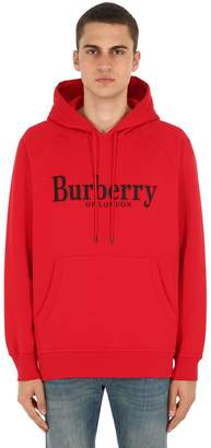 Burberry Embroidered Cotton Jersey Hoodie