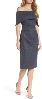 Vince Camuto Sparkle Off the Shoulder Sheath Dress