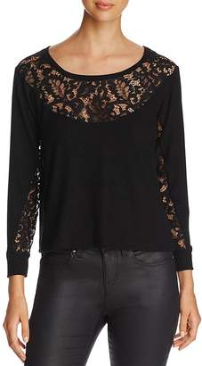 Red Haute Lace-Detail Sweater