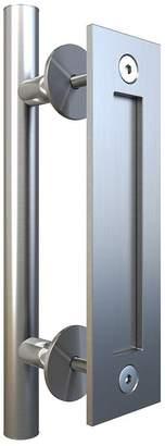 JUBEST Flush Pull Handle Set for Sliding Barn Door Hardware