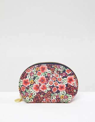 Jack Wills Coin Purse in Leather Look Floral Print
