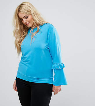 Alice & You Ruffle And Fluted Sleeve Sweater