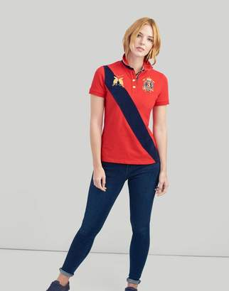 Joules CHINESE RED Claredon Polo Shirt Size 14