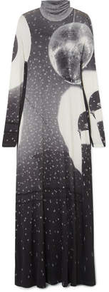 MM6 MAISON MARGIELA Printed Stretch-jersey Maxi Dress - Gray