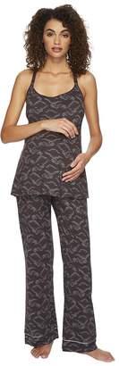 Cosabella Bella Maternity Print Amore Print Cam Pants Black PJ Gift Women's Pajama Sets