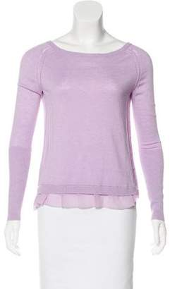 Halston Long Sleeve Knit Top