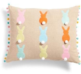 Bunny Silhouette Accent Pillow