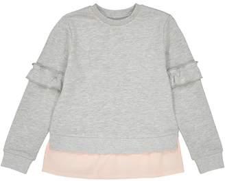 La Redoute COLLECTIONS Dual Fabric Ruffled Sweatshirt, 3-12 Years