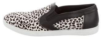 Sergio Rossi Pony Hair Slip-On Sneakers