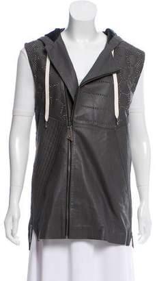 Skingraft Renegade Leather Vest w/ Tags