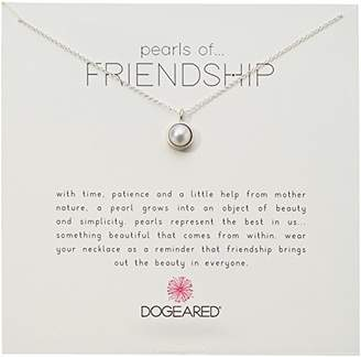 1a3304da3c Dogeared Sterling Bezel Pearls of Friendship Chain Necklace