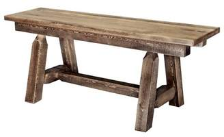 clear Montana Woodworks Homestead Collection Plank Style Bench, 45 Inch, Stain & Lacquer Finish
