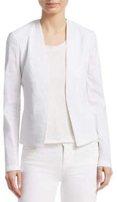 Theory Linen Collarless Jacket
