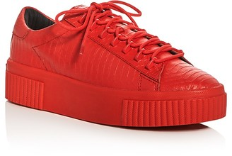 KENDALL and KYLIE Reese Embossed Lace Up Creeper Platform Sneakers $130 thestylecure.com