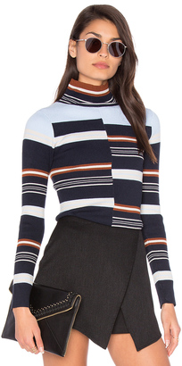 525 america Rib Mock Neck Sweater $96 thestylecure.com