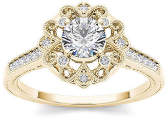 MODERN BRIDE 1/2 CT. T.W. Diamond 14K Yellow Gold Engagement Ring