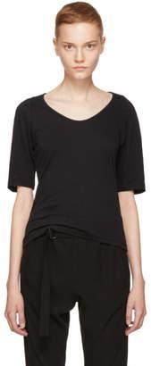 Ann Demeulemeester Black Half Sleeve T-Shirt