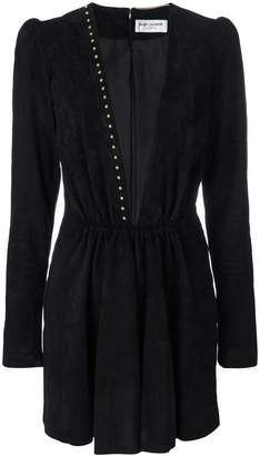 Saint Laurent plunge mini dress