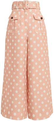 Zimmermann Corsage Safari Polka Dot Pants
