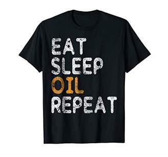 Eat Sleep Oil Repeat T-Shirt Vegan Gift Vegetarian Shirt