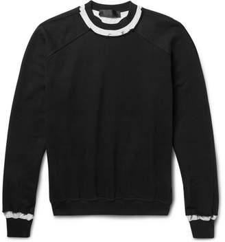 Haider Ackermann Raw-Edged Loopback Cotton-Jersey Sweatshirt